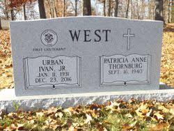 Urban Ivan West Jr. (1931-2016) - Find A Grave Memorial