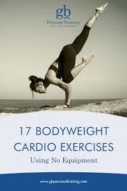 17 bodyweight cardio exercises using no