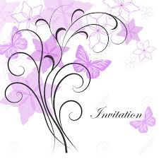 Hermoso Fondo Floral Con Mariposas Para El Diseno De Tarjeta De