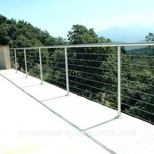 China Stainless Steel Balustrade Tension Wire Railing China Stainless Steel Cable Wire Railing