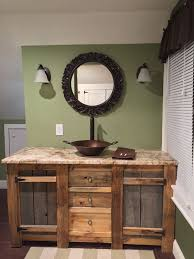 rustic bathroom vanities and cabinets