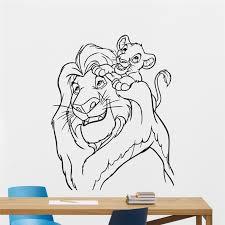 Lion King Wall Decal Cartoons Vinyl Sticker Simba Nursery Wall Sticker Kids Baby Room Wall Art Wall Children Mural Aliexpress Com Imall Com