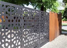 Cnc Geometric Laser Cut Decorative Metal Panels Laser Cut Screen Panels For Hand Rail Screen