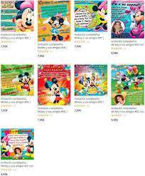 Invitaciones De Cumpleanos Mickey Mouse Y Amigos Gratis