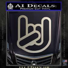 Rocker Fist Decal Sticker Rock Out A1 Decals