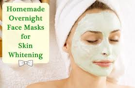 overnight skin whitening face mask