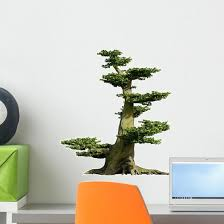 Old Bonsai Fairy Tree Wall Decal Wallmonkeys Com