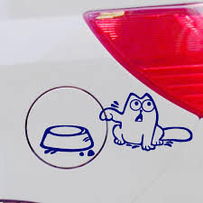 Cat Decal Vinyl Car Ipad Laptop Window Wall Funny Sticker Protective Rice Rocket Car Styling Aliexpress