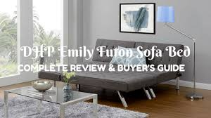 dhp emily futon sofa bed complete