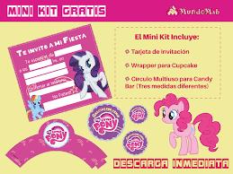 Mi Pequeno Pony Kit Imprimible Para Descargar Mundo Mab Kits