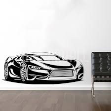 Wall Decals Sport Car Wall Stickers