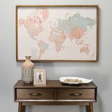 Watercolor World Map Framed Wall Plaque Kirklands