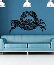 Vinyl Wall Decal Sticker Abstract Crab Os Aa1381 Stickerbrand