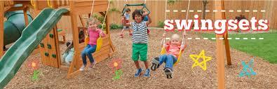 kids backyard wooden swing sets kidkraft