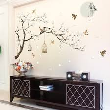 White Blossom Tree Branch Wall Sticker Cherry Blossom Decals Mural Decor Alexnld Com