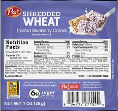 frosted blueberry shredded wheat cereal