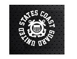 United States Coast Guard Vinyl Window Decal Sticker Uscg 1 3 24 Picclick