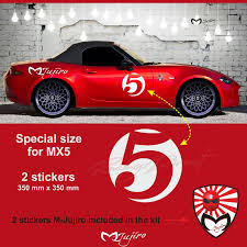 Number 5 Sticker Decal For Mazda Mx5 By M Jujiro
