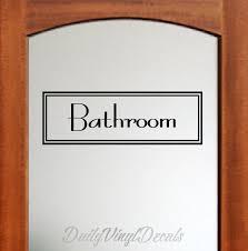 Bathroom Decal Bathroom Wall Decal Bathroom Sign Bathroom Lettering Decal Text Window Door Bathroom Vinyl Decal Etc Home Decor Decal