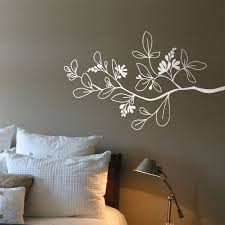 Arezzo Branch Wall Decal White 27 00 Via Etsy Wall Stickers Red Wall Decals Space Wall Decals