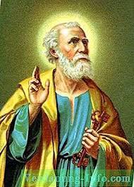 Aposteln Peter är målvakten till nycklarna till himlen. Apostelens ...