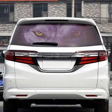 Styling Car Sticker Transparent Vinyl Wrap Auto Back Rear Window Horror Decal Films 130 70cm Wish