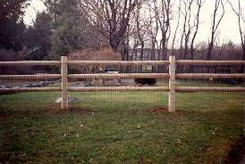 Cedar Post And Rail Fence With Welded Wire Traditional Landscape Boston By Avo Fence Supply