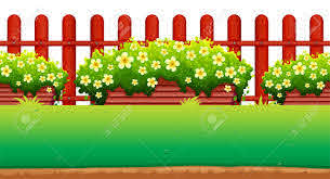 Flowers And Fence In The Garden Illustration Royalty Free Cliparts Vectors And Stock Illustration Image 50176609