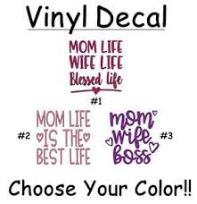 Mom Set C 3 Vinyl Decal Sticker For Cup Tumbler Glass Car Window Laptop Ebay