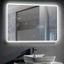 wall mounted backlit bathroom vanity
