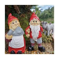 fairy garden gnome couple 5 tall men