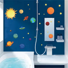 Vova Universe Wall Stickers For Kids Room Nursery Adesivos De Parede Pvc Posters Solar System Wall Art Space Decals Planets