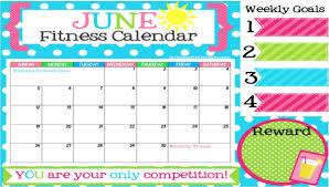 fitness calendar template 9 free pdf