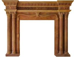 column marble fireplace mantels