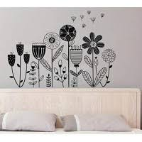 Flower Garden Vinyl Wall Stickers Bed Background Dandelion Decals Girls Room Home Decorate Baby Nursery Art Sticker 32x46cm Educational Toys Planet