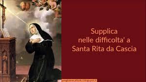 Supplica nelle difficolta' a Santa Rita da Cascia - YouTube