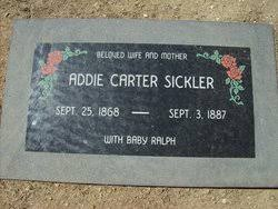 Mary Addie Carter Sickler (1868-1887) - Find A Grave Memorial