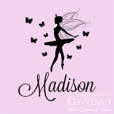 Amazon Com Personalized Name Ballet Ballerina Fairy Butterfly Dance Vinyl Decal Sticker Small Overall Size 27 X 22 Posters Prints