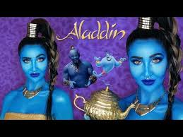 aladdin genie makeup tutorial 2019
