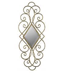 antiqued gold scroll design diamond