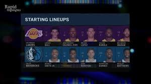 Lakers vs Dallas Mavericks - Full Game ...