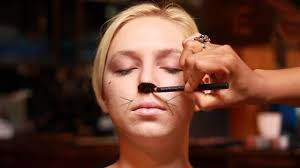 how to apply makeup for a cat costume