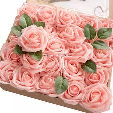 الزهور الاصطناعية ورود حمراء حقيقية تبحث الورود ث الجذعية Diy بها
