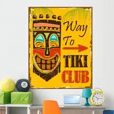 Tiki Club Wall Decal Wallmonkeys Com