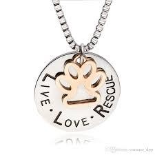 rescue lettering pendant necklace