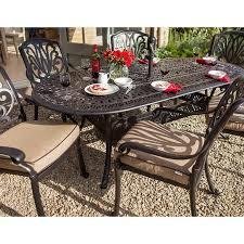 amalfi 6 seater oval table set