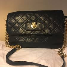 quilted leather bag gold chain strap