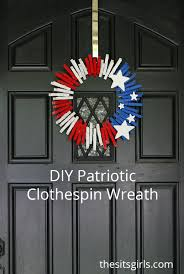 diy patriotic wreath red white and