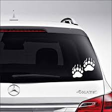 Amazon Com Aampco Decals Bear Tracks Footprints Hunting Car Truck Motorcycle Windows Bumper Wall Decor Vinyl Decal Sticker Size 15 Inch 38 Cm Wide Color Matte White