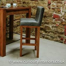 grey leather bar stool leather bar
